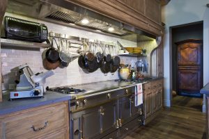 Dark Wood Custom Kitchen Cabinets