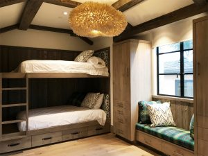 Custom wood bedroom bunks