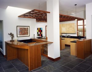 A modern custom kitchen