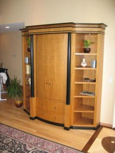 entertainment center wood cabinets
