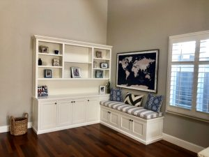 living room cabinet & seat